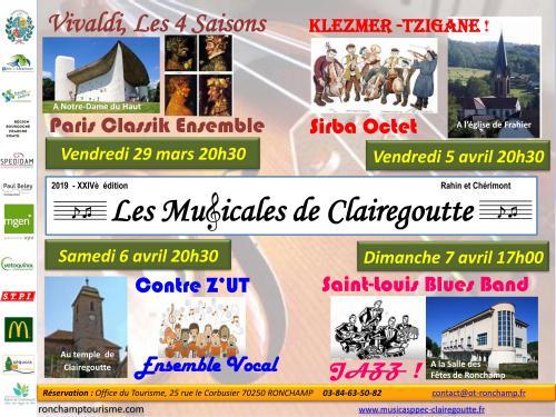 Les Musicales de Clairegoutte 2019