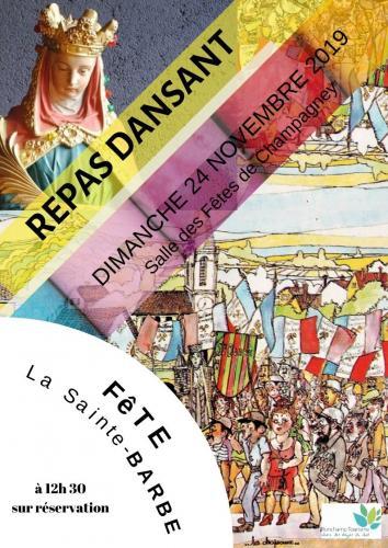 REPAS DANSANT de la Sainte BARBE